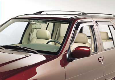 2002 Infiniti QX4 SIDE WINDOW DEFLECTORS 999D3-RP000