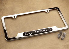 2017 Infiniti Q60 Coupe License Plate Frame w/Valve Stem C 999MB-YX001